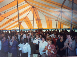 Tent Meeting prior to Groundbreaking