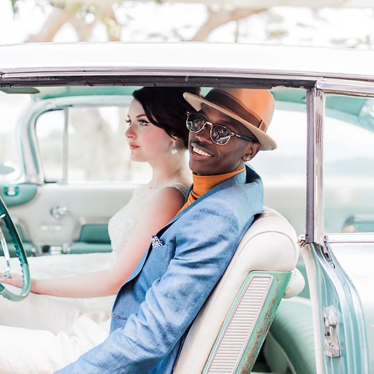 Mid Century Modern Wedding Photo Shoot