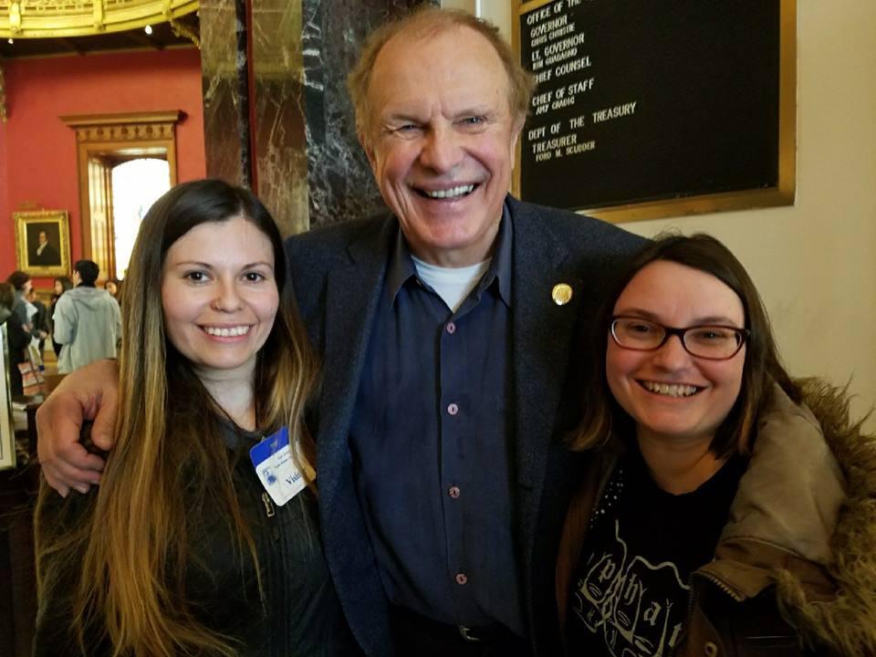 Lauren Magielnicki (far right) with NJ STRAYS founder Adriana Bradley and Senator Lesniak