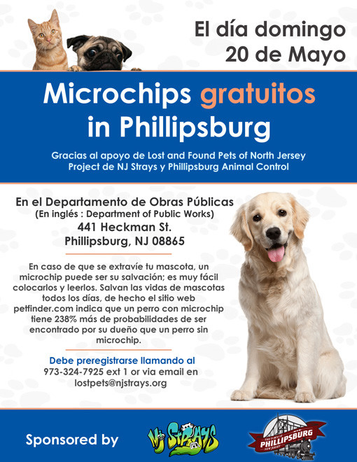 Microchips Gratuitos in Phillipsburg, New Jersey