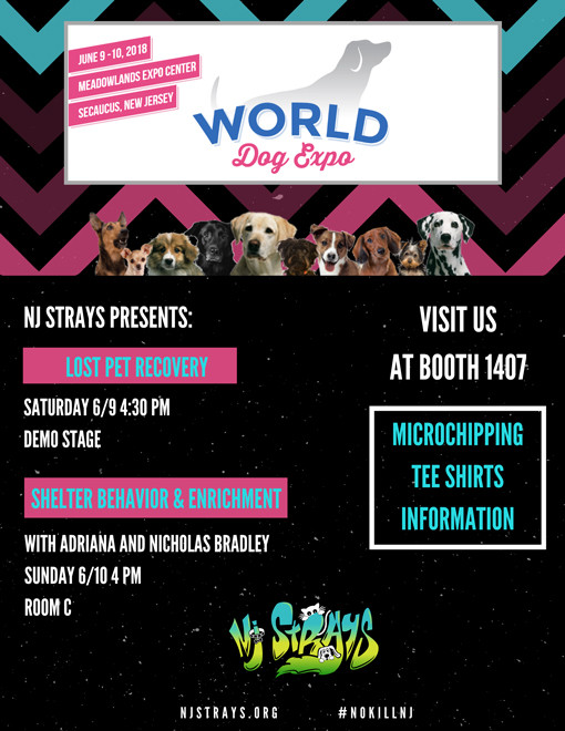 Visit us in Secaucus, New Jersey at World Dog Expo in June, 2018.