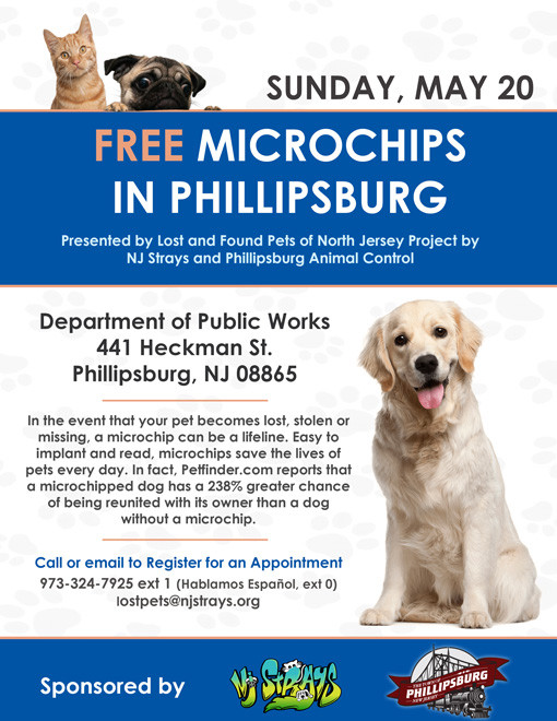 Free Microchips in Phillipsburg, New Jersey