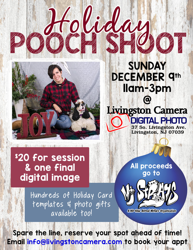 Holiday Pooch Shoot, Dec. 9, Livingston