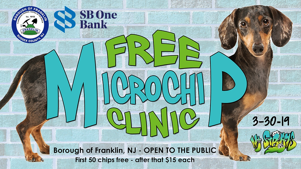 Free microchips available in Franklin, NJ.