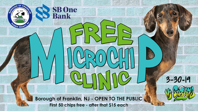 Free Pet Microchip Clinic in Franklin, Sussex County, 3/30