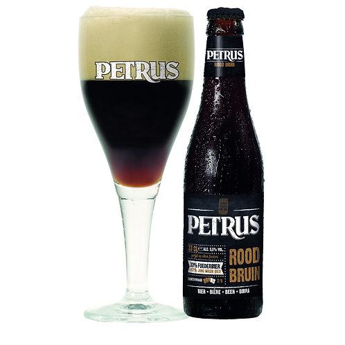 Petrus Rood-Bruin - bouteille & verre