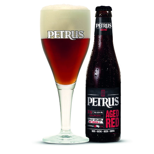 Petrus Aged Red - bouteille & verre