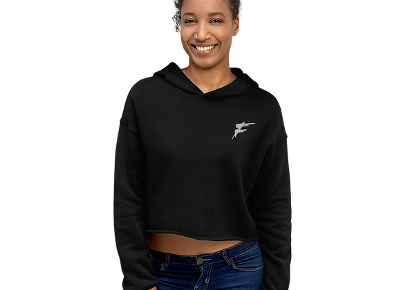 | F Collection | Crop Hoodie | Dropped shoulder | Embroidered | HERS