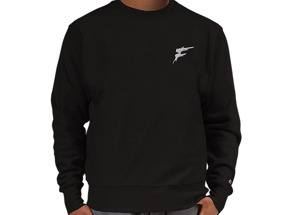 | F Collection | *Signature Series Champion Sweater w/logo | Embroidered | BK/GR