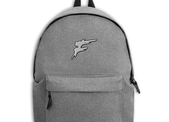 | F Collection | Embroidered F Logo Backpack |