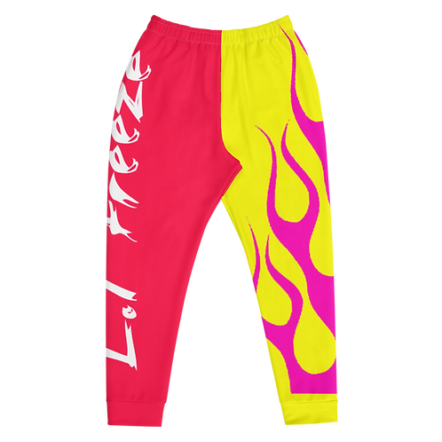 The Stoner Collection | Freeze Pink Flame Joggs