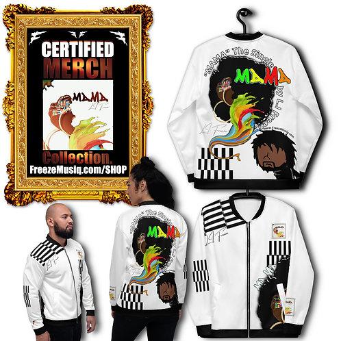 Album Merch   MAMA   Black Fro Swag Jacket   White   Unisex