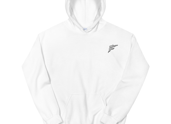 | F Collection | Flex Hoodie | Double Stitch | Unisex | Embroidered | WHT\GRY