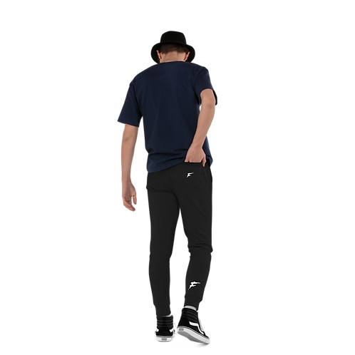 | F Collection | Premium Skinny Joggs | Fitted | Cuffed | Unisex | Double Logo