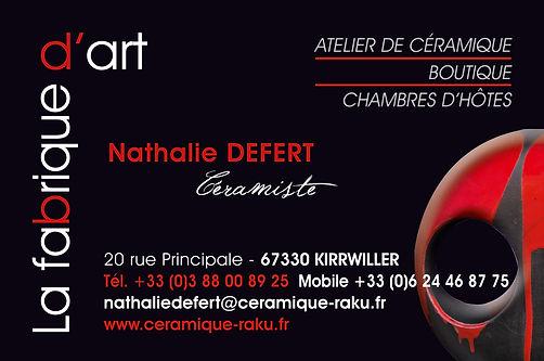 Impulsion graphique, conception graphique graphiste freelance Alsace print flyer brochure artiste céramique La Fabrique d'Art