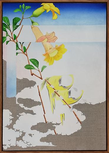 LR_double bird(after Hiroshige)_2020_oil