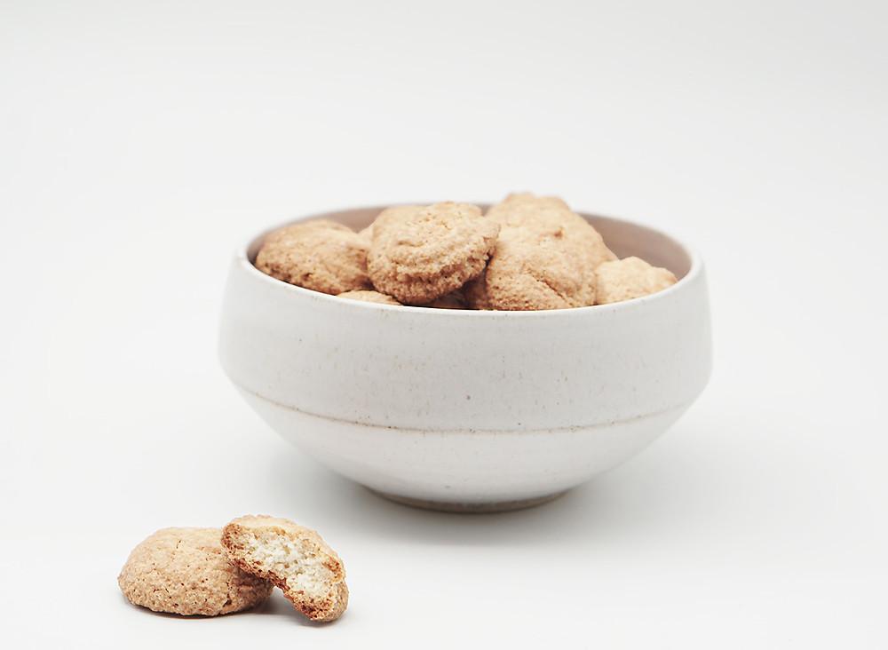תופינים, מתכון עוגיות אמרטי, עוגיות קמח שקדים