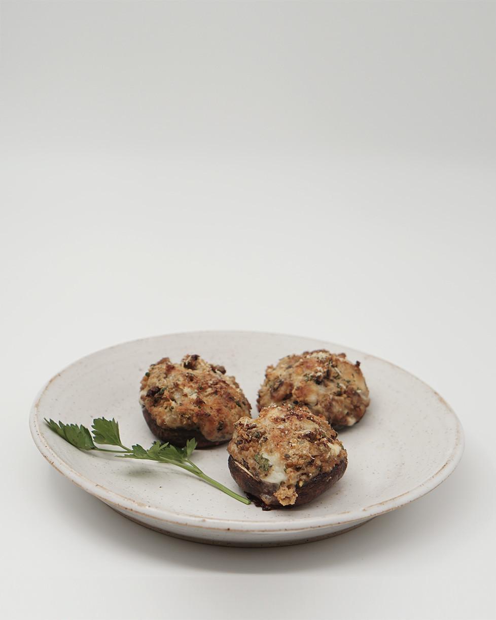 תופינים, מתכון לפטריות ממולאות, צמחוני
