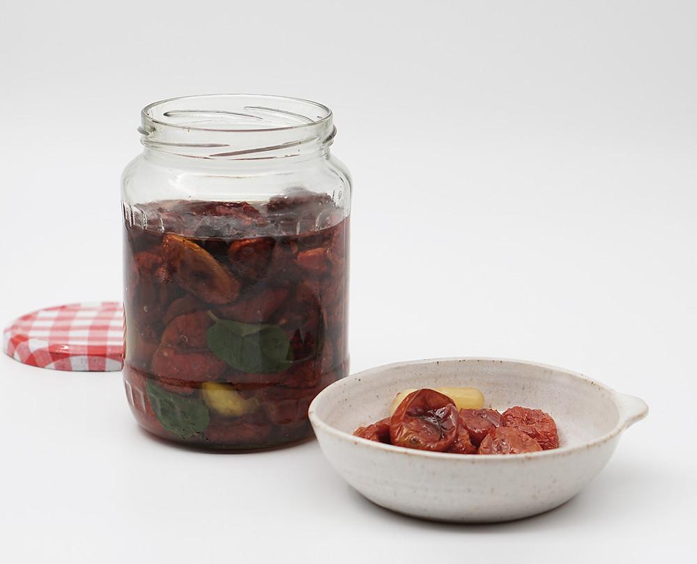 תופינים, מתכון עגבניות שרי מיובשות בשמן זית tufinim