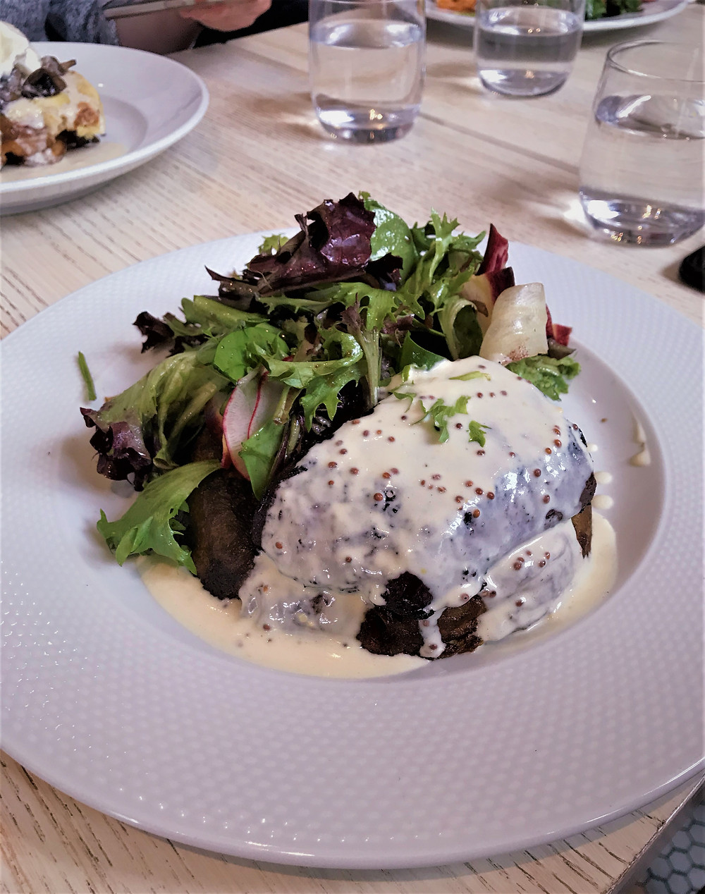 Specialty at Le Clocher Penche: homemade blood pudding