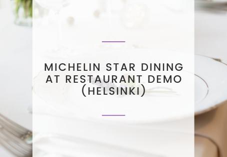 Michelin-Star Dining at Restaurant Demo (Helsinki)