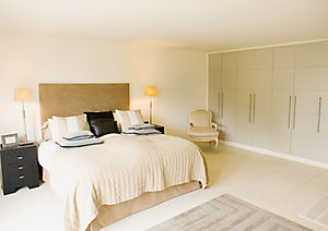 White colored bedroom