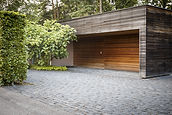 An outside look on wooden garage
