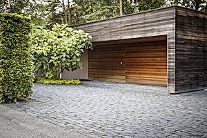 An outside look on wooden garage