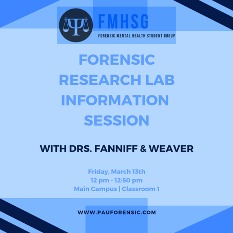 EVENT | Dr. Fanniff Featured By PAU Forensic Student Group