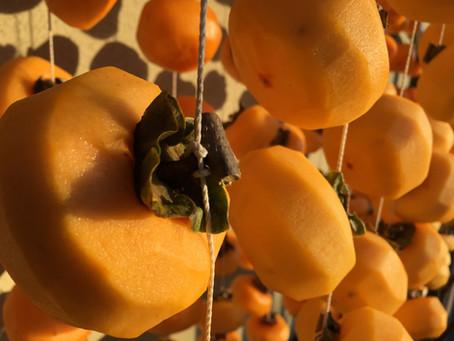 酒と干し柿