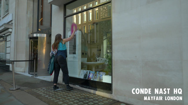 XR FASHION ACTION @ CONDE' NAST HQ IN LONDON