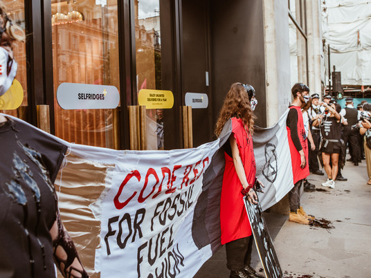 CODE RED FOR FOSSIL FUEL FASHION