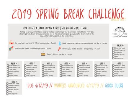 2019 JFSOD Spring Break Challenge