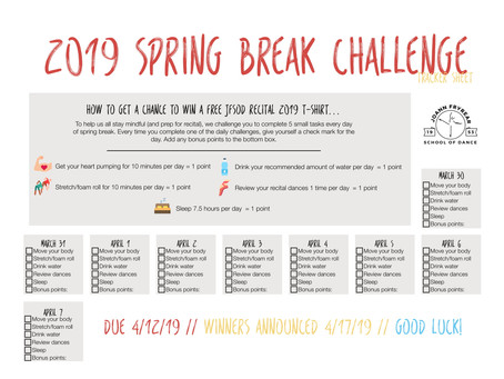 2019 JFSOD Spring Break Challenge