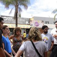 O grupo, agora expandido, se reuniu para iniciar as discussões a respeito do projeto da praça.