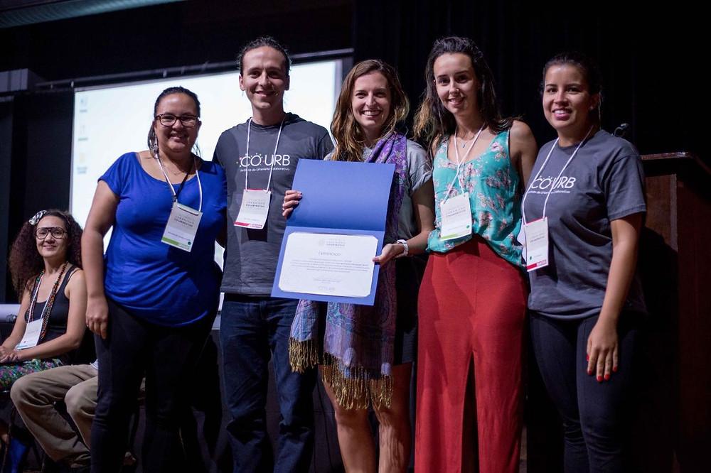 Premiadas na categoria Formação e Consciência Cidadã pelo projeto Caminhada da Joaninha