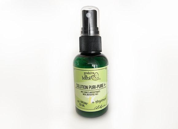Solution Puri-pure +  Désinfectant naturel pour les mains