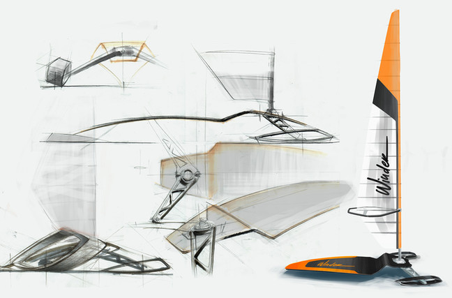 Winder Ice skate concept