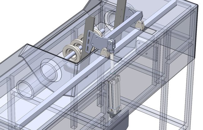 Lifting mechanism design for an existing magnetic crack tester - work in progress