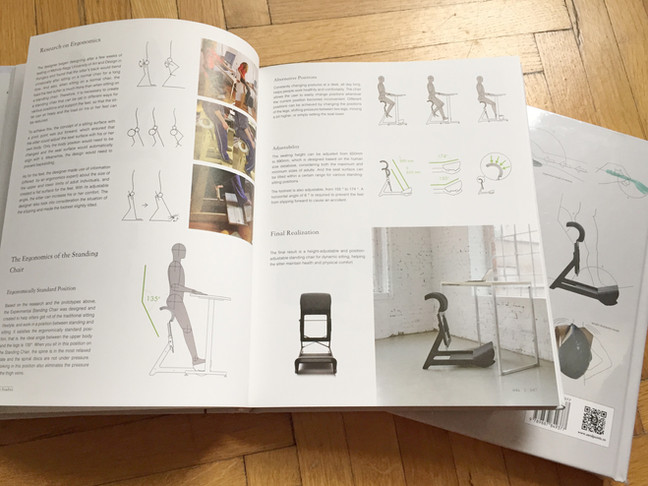 Proudly present, Experimental Standing Chair is in Sendpoint's Ergonomics in Product Design book