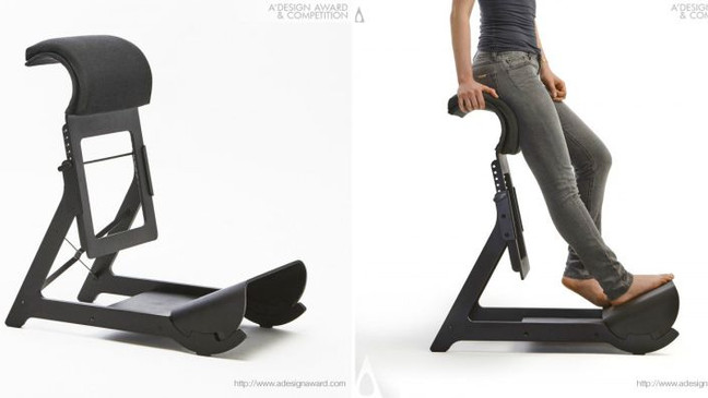 Homecrux selected Experimental Standing Chair (ESC) to the TOP 10 furniture designs of A'Design
