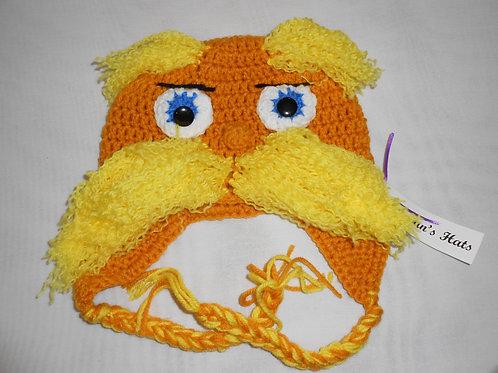 Orange Guy Yellow Moustache