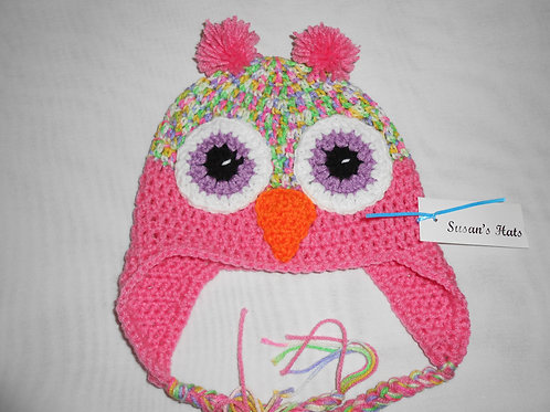Owl Pink With Pink Ears