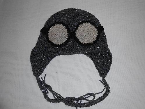 Black Aviator Helmet