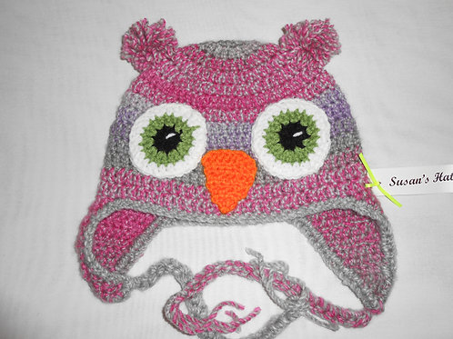 Owl Pink and Gray Pink Ears