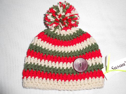Baby Red Ski Cap