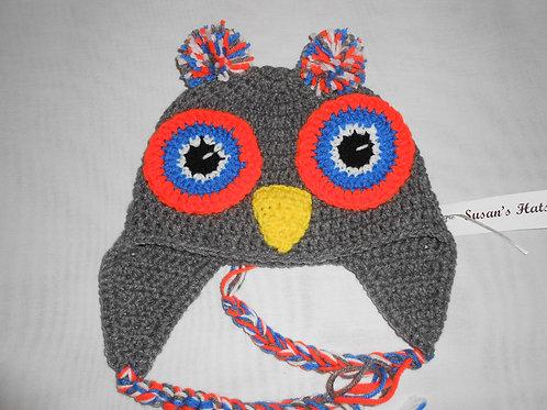 Owl Orange Eyes