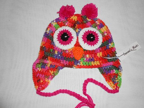 Owl Pink Multi Pink Ears