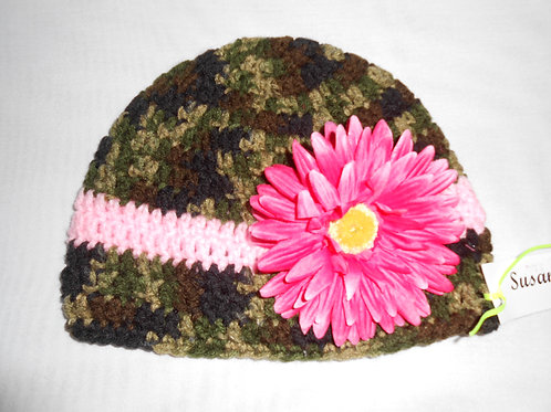 Little Camo With Pink Flower