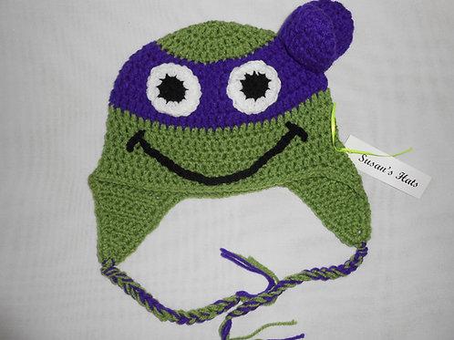 Green Turtle Purple Mask